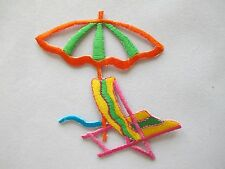 #4221 Sun Umbrella,Beach Chair Embroidery Iron On Applique Patch