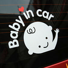 """Baby In Car"" Cute Waving Baby on Board Safety Sign Car Decal Vinyl Sticker 1pc"