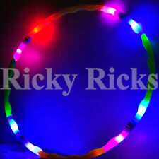 "LED Hula Hoop 30"" Rave Toy Dance Spinning Lighted Future Light Up Hoop EDC"