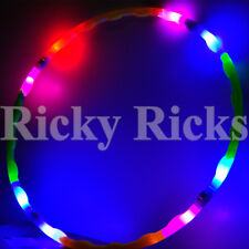 "Light Up Hula Hoop 30"" Kids LED Toy Dance Spinning Lighted Future Hoop EDC"