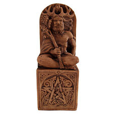 Seated Horned God Statue - Wood Finish - Dryad Designs - Wiccan Wicca Pagan