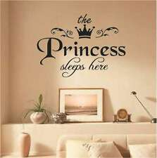 Princess Vinyl Wall Sticker Decal Kids Baby Room Decoration Removable Home Decor