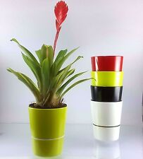 FLOWER POT PLANT SELF WATERING PLANTER WATER STORAGE GREEN HOME GARDEN DECORE