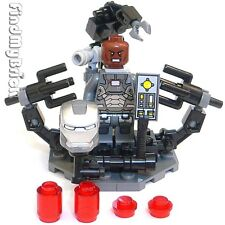 BM114SU Lego Iron Man Suit-Up Gantry & War Machine Suit Rhodey Minifigure NEW