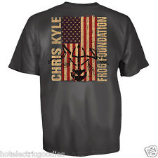 XL Official Chris Kyle Flag Frog shirt American Sniper Navy Seal Army Extra Lrg