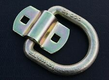 """4 Bolt On D Ring 1/2"""" Flatbed Truck Car Trailer Tie Down Strap Chain Rope Rings"""
