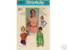 Sewing Pattern Misses How-To-Sew Four Views of Long Short Sleeve BLOUSE 6