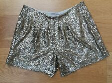 Maje Gold Sequin Party Shorts 38 Uk 10
