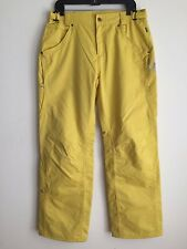 Five Seasons Snowboard Pants Yellow w/Silver Size 10