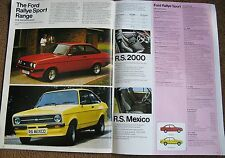 1978 FORD CARS MAGAZINE SPORT  BROCHURE RS