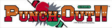 #736 Punch Out Arcade Marquees Laptop Window Car Motorcycle Decal Old School