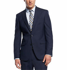 Kenneth Cole New York Men's Wool Blue Pinstripe 42R Slim Fit Peak Lapel Blazer