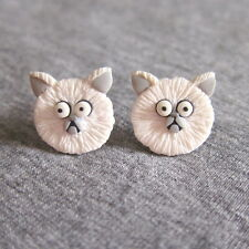 Weird Girl and Mr. Whiskers Frankenweenie Persian Cat Earrings Easter Kids Gifts