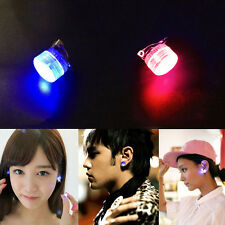 1x LED Earrings Light Up Bling Ear Studs Blue Red Flash Accessories Unisex  UK