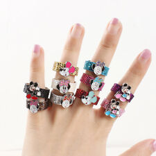10X Mickey Mouse leather Ring Girl Kid Birthday Party Bag Favor Gift