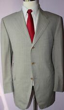Lanvin Classique Gray Stiped Wool Three Button Side Vented Suit 44 R 38 31
