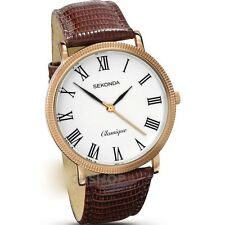 Mens New Sekonda Classique Stylish Rose Gold Plated Watch 3299 RP£50