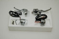 New Bikers Choice Chrome Handlebar Chopped Controls with Chrome Switches 411527