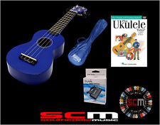 UKE PACK U30B BLUE SOPRANO UKULELE +GIG BAG +PLAY UKULELE TODAY DVD +TUNER