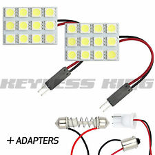 2 LED White Universal Fit Dome Map Interior Light Bulb Lamp - 12SMD Xenon HID