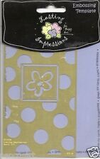Lasting Impressions Embossing Template Flower Spotty Design Pattern