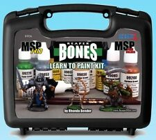 Learn to Paint Kit 08906 Reaper Bones Master Series Paint Minis Brushes Case