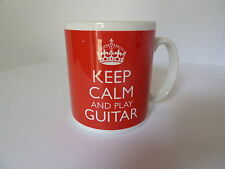 Keep Calm and Play Guitar Gift Mug Cup Gift Carry On Music Acoustic Electric