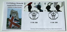 FABULOUS HATS FDC 2001 CIVIL DEFENCE MEMORIAL ALREWAS BURTON ON TRENT H/S