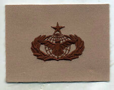 USAF US Air Force Security Police Senior Qualification DCU Tan Badge Patch