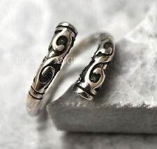 Antique 925 Silver Plt Ornate Tribal Ring / Thumb Ring Adjustable  gift