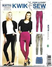 K3770 KWIK SEW PATTERN MISSES LEGGINGS AND SKIRT  SIZE XS-XL