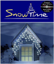 Snowtime Connectable 300 LED Snowing Icicles WHITE Bright  Xmas Christmas Lights