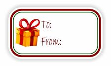 Christmas Vinyl Sticker To / From Gift Box Tags Father Baby Holiday Present