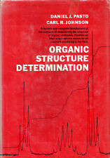 "DANIEL J.PASTO & CARL R.,JOHNSON -""ORGANIC STRUCTURE DETERMINATION"" - HB (1969)"