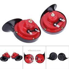 Pair 12V Loud Car 135DB 510HZ Dual Tone Snail Electric Air Horn Siren Universal