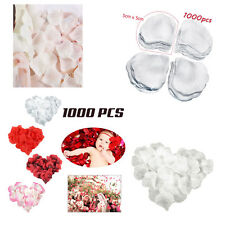 WHITE 1000 PCS SILK ROSE PETAL FLOWER DECORATION EVENT CELEBRATION FESTIVAL DIY