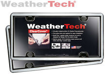 WeatherTech® ClearCover® License Plate Cover - 2-Pack - Chrome/Black