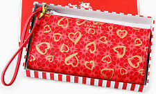 NWT AUTHENTIC COACH SWEET HEART SIGNATURE C WRISTLET WALLET IN GIFT BOX NEW