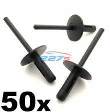 50x BMW Plastic Pop Blind Rivets 6mm, Wheel Arches, Side Skirts, Sills & Bumpers