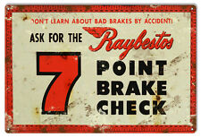 Vintage Raybestos Break Check Reproduction Gas Station Metal  Sign 12×18