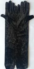 LADIES LONG VELVET GLOVES ELBOWS LENGTH 1920's  WOMENS FANCY DRESS ACCESSORIES
