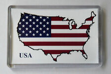 USA Map Flag Fridge Magnet- Free Postage