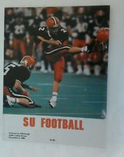 1988 Pittsburgh  Panthers PITT Vs Syracuse Orangemen Football Program Rare