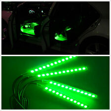Green Car Interior Charge Footwell Floor 12V LED Decorative Lamp Atmosphere Ligh