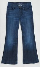 "Women's 7 For All Mankind blue flared jeans,US size 12(SMALL UK 6/8),25"" L"