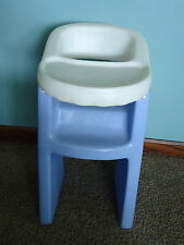 Vtg Little Tikes Child Size Doll High Chair Purple & White Toy Play Pretend Baby