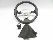 New Genuine Suzuki Swift 2010 on Sports Black Leather Steering Wheel + Gear Knob
