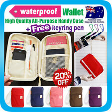 Travel Wallet Passport Holder Card Ticket Organizer Bag iPhone 5S Pouch+Pen N13