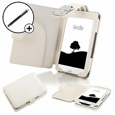 Forefront Cases® Leather White Case Cover Sleeve for Amazon Kindle 2016 Stylus