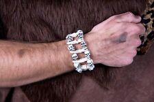Armband Schädel Knochen Zähne Totenkopf Steinzeit Urmensch Halloween Fasching